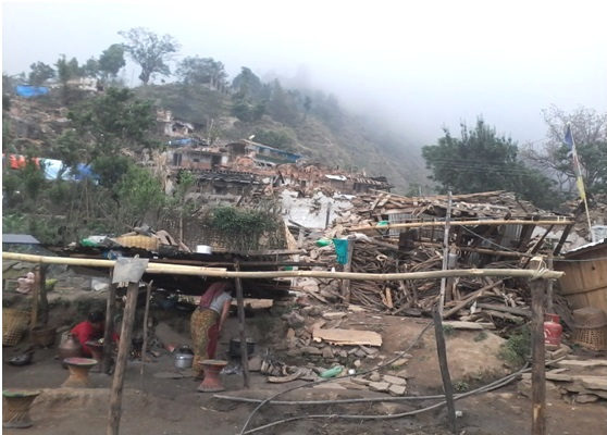 Nepal destroyed village